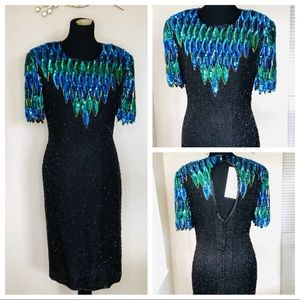 STENAY Vintage Sequin Holiday Christmas Dress